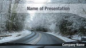 Snow Road Powerpoint Templates - Snow Road Powerpoint Backgrounds ...