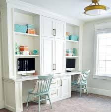 dual desk home office ideas captivating bookshelves and desk built in built in desk and bookshelves dual desk home office