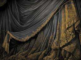 a vintage paper curtain backdrop like you would see in old toy theaters paper theaters from victorian times by eveyd