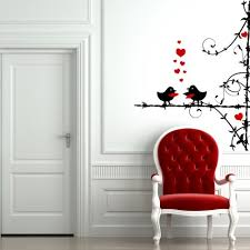 red fabric love birds wall art white wooden stained varnished hardwood door unique black steel stickers on personalized love birds wall art with wall art decor ideas red fabric love birds wall art white wooden