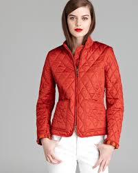 Lyst - Burberry brit Edgefield Quilted Jacket in Orange & Gallery Adamdwight.com