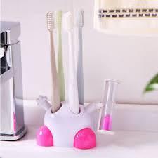 Blesiya Toothbrush Holder Children Hourglass 3 Minutes Countdown