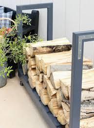 Outdoor: Under Table Firewood Storage Ideas - Firewood Racks