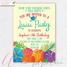 Printable Hawaiian Party Invitations Download Them Or Print