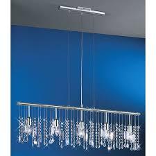crystal lighting luxury linear 5 light 38 inch bar pendant crystal chandelier silver of crystal lighting