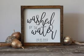 Baptism Quotes Mesmerizing Washed By The Water Wood Sign Baptism Gift Modern Farmhouse Sign