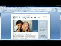 Microsoft Word Newsletter How To Create A Newsletter In Microsoft Word 2007 Youtube