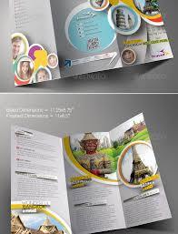 tourist brochure design templates