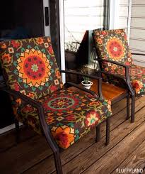 sewing projects for the patio recovered patio chair cushions step by step instructions and free patterns for cushions pillows seating