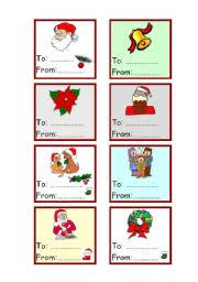 Christmas Cards For Gift To From 1 3 Esl Worksheet By