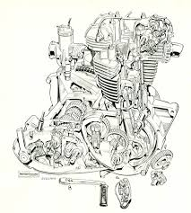 triumph unit twin engine cutaway motorcycles triumph unit twin engine cutaway