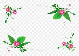 Green Flower Border Design Png Hd Page Border Designs Free