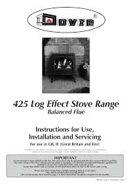dovre 425 log effect stove manual