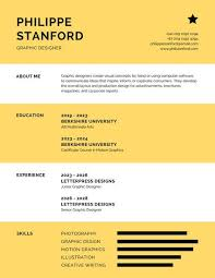 Yellow and White Infographic Resume