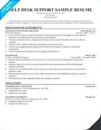 Sample Help Desk Support Resume Sample Help Desk Resume Englishor Com