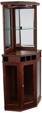 bar corner furniture. Home Source DC03 Corner Bar Unit, Mahogany Bar Corner Furniture