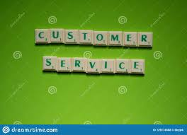 Customer Service In 3 Words Created Words Of Customer Service On The Green Background