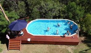 semi inground pool ideas. Gallery Of Affordable Pool Semi Inground Decked With Pools. Ideas