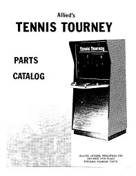 Arcade Game Manual: Tennis Tourney by Allied Leisure Industries : Free  Download, Borrow, and Streaming : Internet Archive