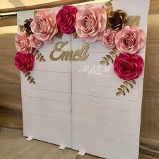 Pink Paper Flower Decorations Giant Paper Flowers Paper Flower Decor Paper Flower
