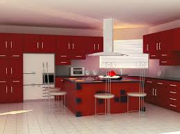 Modular Kitchen Furniture Modular Kitchen Design With Red Cabinet And Ceiling Lamps Kitchen
