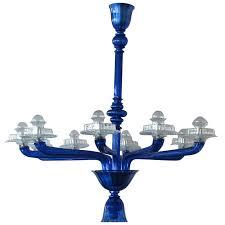 murano cobalt blue chandelier for
