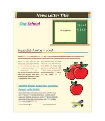 School Newsletter Templates Bomdhv