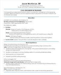 Entry Level Civil Engineering Resume Samples Professional Resume