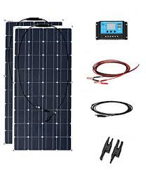 xinpu guang 200 w solar panel solar system kits 2 100 w 12 24 v 20 a controller cable mc4 adapter diy for home rv yacht car house battery co uk