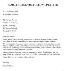 Sample Follow Up Letter After Job Interview Granitestateartsmarket Com