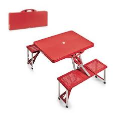 portable folding picnic table wfour integrated seats 81100 ideastage promotional products portable folding picnic table30