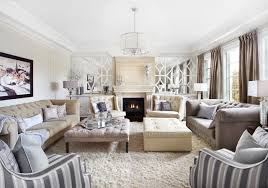 classic luxurious neutral cream and grey living room transitional living room