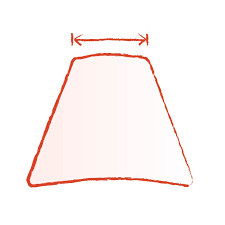 measure the lamp shade s top diameter