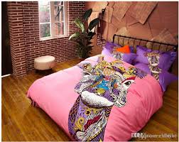 german style colorful cat horse giraffe bedding sets fashion king for comforter set plan 3