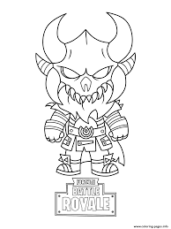 Fortnite Mini Cute The Dark Viking Coloring Pages Printable