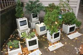 CRT Monitor Planter. planter ideas