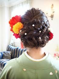 成人式の振袖ヘアスタイルおすすめヘアセット 着物姫成人式や
