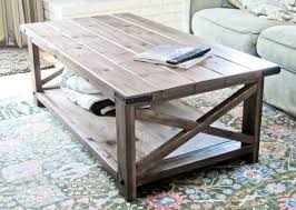 ... DIY Rustic X Coffee Table for Small Living Room ...