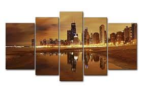 5 piece canvas prints. Wonderful Prints Amazoncom 5 Panel Wall Art Painting Chicago Skyline Prints On Canvas The  Picture City Pictures Oil For Home Modern Decoration Print Decor Posters U0026  To Piece V