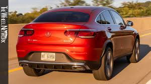 A power liftgate is standard. 2020 Mercedes Benz Glc 300 4matic Coupe Designo Cardinal Red Driving Interior Exterior Us Youtube