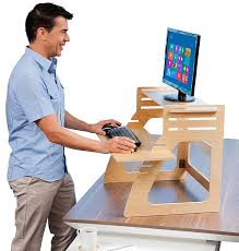 standing desk. Exellent Standing Amazoncom  Well Desk Adjustable Standing Riser  Simple And Solid Stand  Up Converter Made In The USA Of Premium Birch Plywood Relieve Back  Throughout