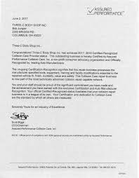 Certifications Three C Body Shop Columbus Ohio