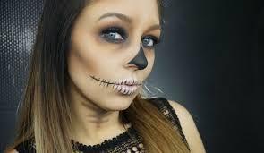 e1 easy skull makeup tutorial
