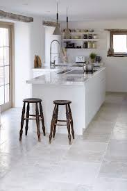 white floor tiles kitchen. Beautiful Floor 15 Brushed Limestone And White Floor Tiles Kitchen E