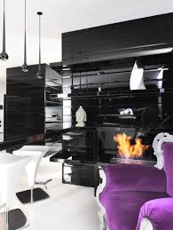 ... Black And White Decor With Purple Accent Home Striking Photos Design  Pictures 96 ...