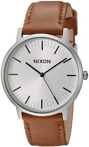 nixon porter leather modern men s watch 40mm leather band