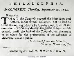 「1774, the first continental confference」の画像検索結果