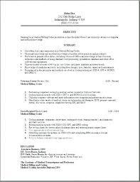 Medical Biller Cover Letter Medical Resume Billing Medical Biller