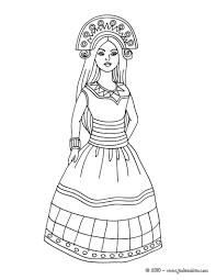 Coloriage Princesse Inca Incas Pinterest Coloriage Princesse