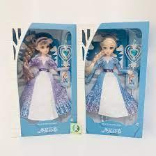 Ảnh thật] Búp bê Elsa 5D Nữ Hoàng Băng Giá Hàng Đẹp Cỡ To nhắm mở mắt, tóc  mây tết tóc chính hãng